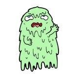 Gross cartoon ghost Stock Photography