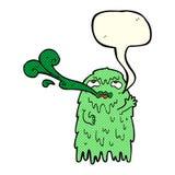 Gross cartoon ghost with speech bubble Stock Photos