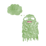 Gross cartoon ghost with thought bubble Royalty Free Stock Photo