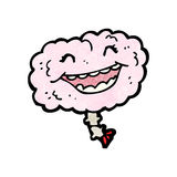 Gross cartoon laughing brain Royalty Free Stock Images