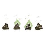 Gross dog poop cartoon Stock Image