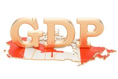 Gross domestic product GDP of Canada concept, 3D rendering. Isolated on white background Stock Image