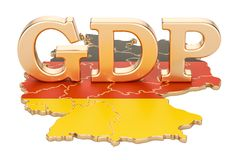 Gross domestic product GDP of Germany concept, 3D rendering. Isolated on white background Royalty Free Stock Image