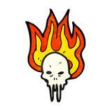 Gross flaming skull cartoon Royalty Free Stock Photo