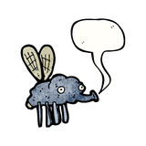 Gross fly cartoon Stock Photography