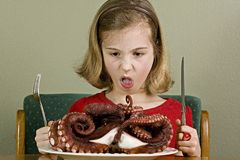 Gross Food for a kid Stock Photo