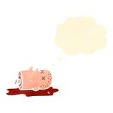 Gross halloween severed head cartoon Royalty Free Stock Image