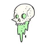 Gross halloween skull cartoon Stock Photography