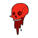 Gross halloween skull comic cartoon. Gross halloween skull retro comic book style cartoon vector illustration