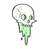 Gross halloween skull comic cartoon. Gross halloween skull retro comic book style cartoon stock illustration