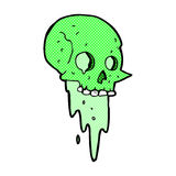Gross halloween skull comic cartoon. Gross halloween skull retro comic book style cartoon royalty free illustration