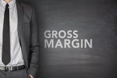 Gross margin on blackboard Royalty Free Stock Images