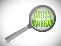 Gross margin magnify search illustration design Royalty Free Stock Photos