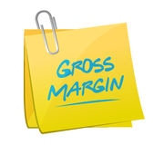 Gross margin memo post illustration Royalty Free Stock Images