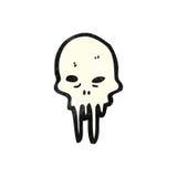 Gross melting skull cartoon Royalty Free Stock Images