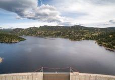 Gross Pointe Dam - Colorado. Aerial shot of Gross Pointe dam in Colorado stock photo
