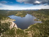 Gross Pointe Dam - Colorado. Aerial shot of Gross Pointe dam in Colorado Royalty Free Stock Images