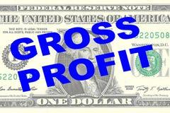 Gross Profit - financial concept Royalty Free Stock Photos
