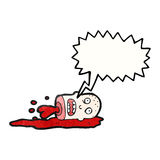 Gross severed head cartoon Royalty Free Stock Images