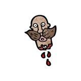 Gross severed head cartoon Royalty Free Stock Photo