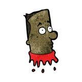 Gross severed head cartoon Stock Photo