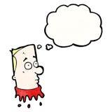 Gross severed head cartoon Stock Images
