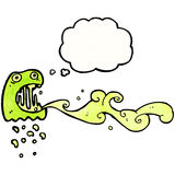 Gross slimy ghost cartoon Royalty Free Stock Images