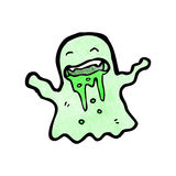 Gross slimy ghost cartoon Stock Photos