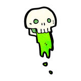 Gross slimy skull cartoon Stock Images