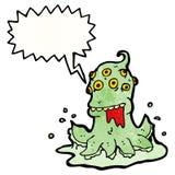 Gross space alien cartoon Stock Image