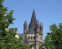Gross St. Martin (Great Saint Martin), Cologne. Gross St Martin (Great Saint Martin), one of Cologne's twelve famous Romanesque churches (City of Cologne Stock Images