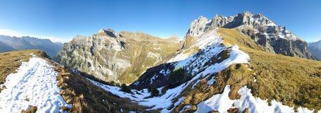 Gross Windgaellen. Panorama of Gross Windgaellen mountain range, Kanton Uri, Switzerland stock images