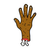 Gross zombie hand comic cartoon Royalty Free Stock Images