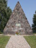 Grossbeeren-Pyramide. Grossbeeren, Teltow-Flaming, Brandenburg, Germany - pyramid, which was built in 1906 in memory of General von Buelow, who led the troops in Stock Images