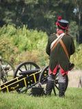 Grossbeeren-2012-Soldat-Kanone Royalty Free Stock Image