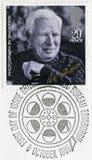 GROSSBRITANNIEN - 1985: zeigt Porträt von Charlie Chaplin 1889-1977, durch Snowdon, Reihe 20. Jahrhundert-Sterne und Direktoren d Lizenzfreies Stockbild
