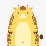 Grosse grande girafe mignonne Illustration de Vecteur