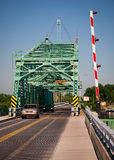 Grosse Ile Bridge. Bridge over Detroit River to island near Detroit Royalty Free Stock Image