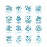 Grosse ligne ensemble d'affaires d'icône Photographie stock libre de droits