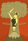 Grosse Madame chantant à l'apocalypse Photographie stock libre de droits