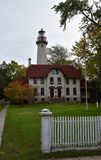 Grosse Point Lighthouse Stock Photos