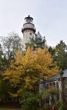 Grosse-Punkt-Leuchtturm im Fall Stockbild