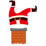 Grosse Santa Legs Chimney Images stock