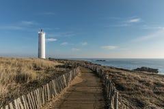 Grosse Terre lighthouse in Saint Hilaire de Riez, France Stock Photos