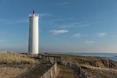 Grosse Terre lighthouse in Saint Hilaire de Riez, France Stock Image