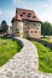 Grosse tour dans Bardejov en Slovaquie Images libres de droits