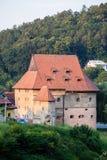 Grosse tour dans Bardejov, Slovaquie Photos stock