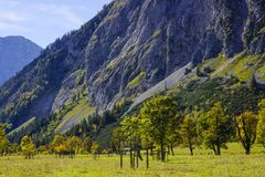 Grosser Ahornboden, Tirol, Austria Obraz Royalty Free