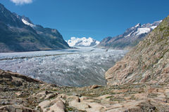 Grosser Aletschgletcher (glacier) Royalty Free Stock Images
