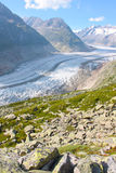 Grosser Aletschgletcher (glacier) Stock Photo